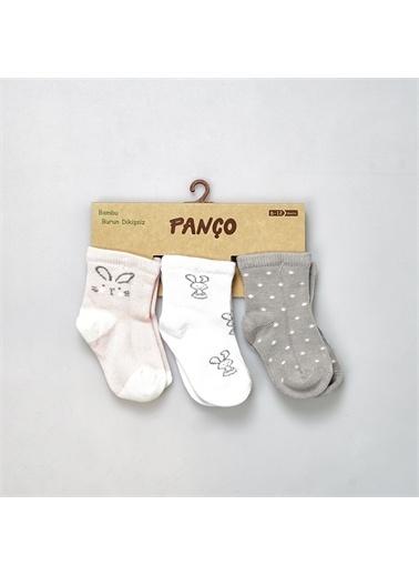 Panço PanÇo 19136092108 Renk Çeşitli Kız Bebek 3'lü Çorap Renksiz